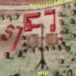 """1719 Er staat een """"staande wip"""" afgebeeld in het kaartboek van de abdij van Terkameren"""