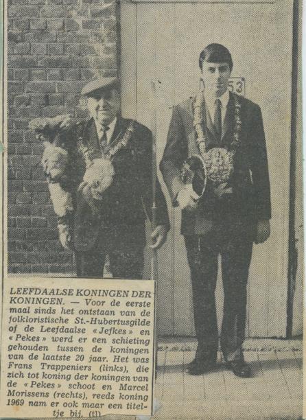 """De krant heeft het verkeerdelijk over de """"Sint-Hubertusgilde"""". Moet zijn de Sint-Jansgilde."""