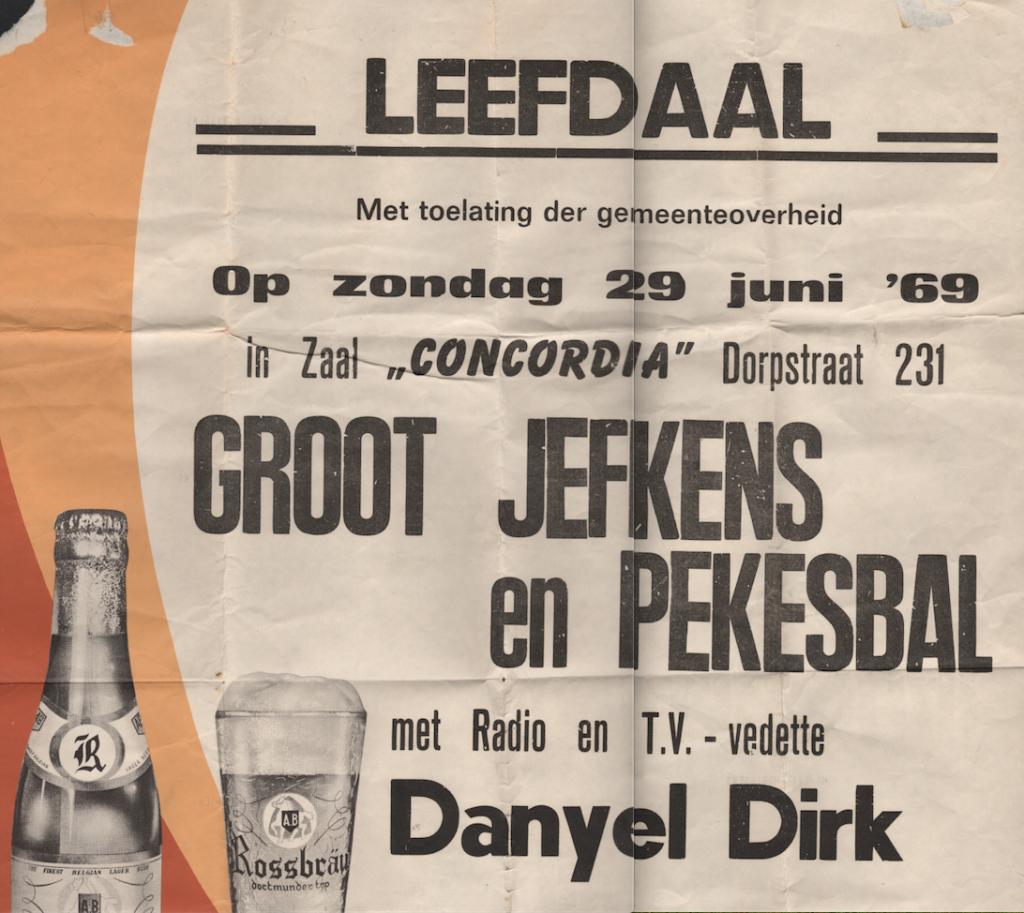 Jefkesbal met Danyel Dirk 1969