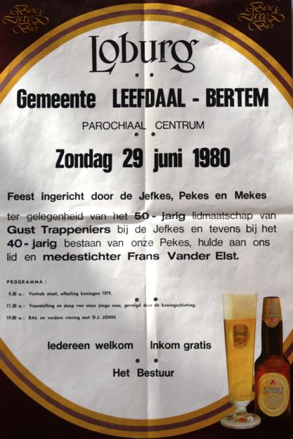 affiche feest Jefkesreus 1980
